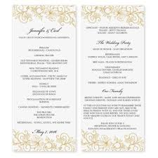 Easy Wedding Program Template Microsoft Word Wedding Program Templates Best Business Template