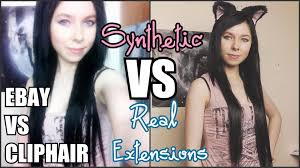 synthetic hair extensions synthetic vs real hair extensions ebay cliphair review