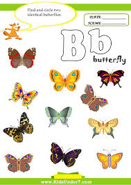 kids under 7 letter b worksheets
