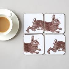classic rabbit classic rabbit cabbage coaster set of four fair 2019