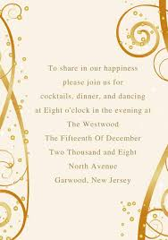 Wedding Reception Cards Modern Yellow And Gold Fall Wedding Invitation Ewi136 As Low As