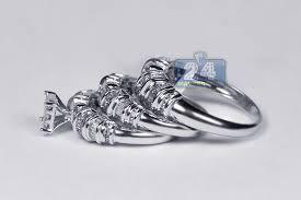 wedding rings sets for women womens mens diamond wedding 3 rings set 14k white gold 2 63ct