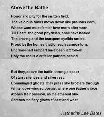Resume Dorothy Parker Above The Battle Poem By Katharine Lee Bates Poem Hunter