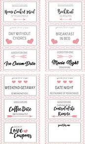 printable romantic gift certificates romantic and naughty printable love coupons for him boyfriends