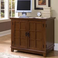 Small Computer Desk With Hutch by Compact Computer Cabinet Furniture Corner Office Armoire Printer