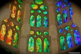 stained glass window stained glass windows at the sagrada familia cherylhoward com