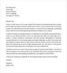 doc 600650 editorial assistant cover letter template u2013 sample