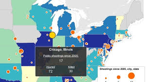 chicago map shootings interactive map the u s shooting epidemic