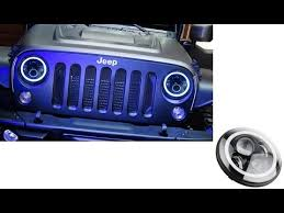 round led lights for jeep high power 40w cree 7 round led headlights with halo rings for jeep
