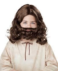 amazon com california costumes jesus wig and beard child costume