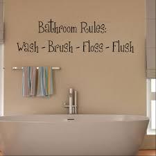 bathroom decal wall stickers shop home bathroom rules decal wall sticker