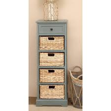 new traditional 4 drawer blue gray wicker basket cabinet 96182