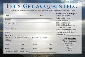 church visitor card template ministry pinterest card