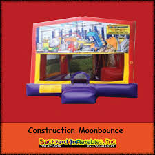 construction moonbounce backyard inflatables
