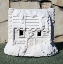 christmas houses plaster craft statuary place online store