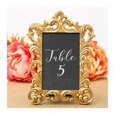 gold table number frames gold picture frames 30 set size 4 x 6 baroque table number frame