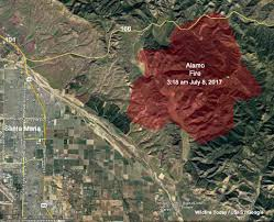 Wild Fire July 2017 by Alamo Fire Burns 19 000 Acres East Of Santa Maria California