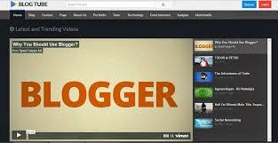 blogtube professional blogger template free video blogger templates