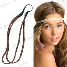 braided hair headband synthetic braided braids plaited plait elastic hair band