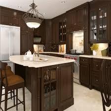 espresso coffee color modern design modular solid wood kitchen