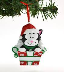black cat in box u2013 personalized ornaments