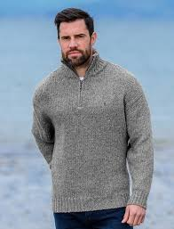 sweater mens mens half zip wool sweater donegal sweater aran sweater market