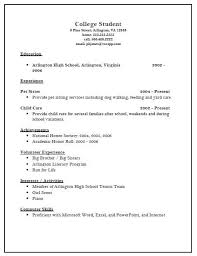 Example Of College Student Resume by Resume Examples Resume For College Application Template High