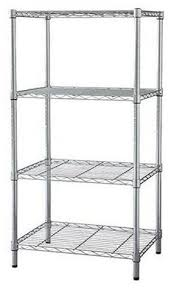 4 Tier Shelving Unit by Details About 4 Tier Heavy Duty Adjustable Wire Shelf Metal