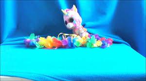 pink fluffy unicorns beanie boo version