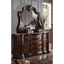 Antique Marble Top Nightstand Esofastore New Formal 4pc Eastern King Size Bedroom Furniture Bed