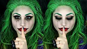 squad female joker halloween makeup tutorial