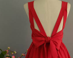 red bridesmaid dress etsy
