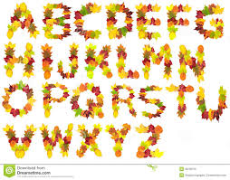 autumn leaf alphabet stock photo image 39256576