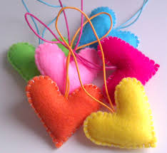 heart decorations home home party hearts decorations vibrant neon rainbow colorful