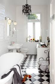 black and white floor tile bathroom home design ideas