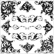 ornament corner frame vector graphics tshirt factory