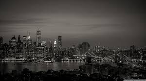 new york city black and white hd desktop wallpaper widescreen