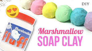 Diy Hacks Youtube by Diy Soap Clay With Marshmallow Fluff Make Squishy Soap Youtube