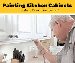 price of painting kitchen cabinets how much does it cost to paint kitchen cabinets 2021