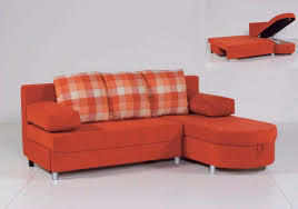 Orange Pillows For Sofa by Furniture L Shaped Orange Sleeper Sofa With Curved Chaise And