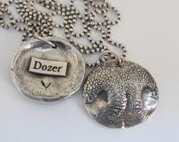dog necklace silver images Dog nose necklace etsy jpg
