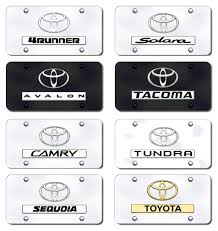toyota logo logo and name license plates vanity logo tags
