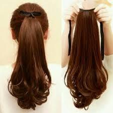 hair clip rambut jual hair clip ponytail curly panjang ikat tali wig ponytail