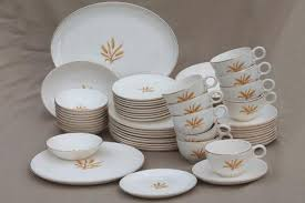 golden wheat dishes vintage china set for 10 smith
