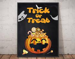 Halloween Floor Decorations by Halloween Wall Decor Etsy
