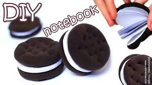 how to make oreo notebook diy chocolate sandwich cookies