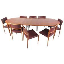 mid century modern danish teak dining table u0026 model 11 moller