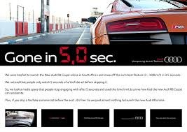 audi r8 ads audi digital advert by ogilvy gone in 5 seconds ads of the world