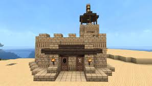 Desert Home Plans Small Fortified Desert House Minecraft Project