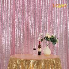 backdrops for photography 8ftx8ft pink gold sequin backdrops glitter sequin curtain wedding
